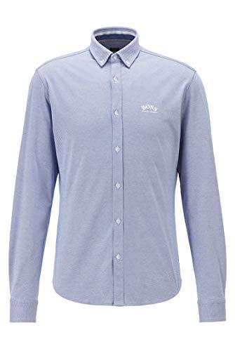 BOSS BIADO_R 10233753 01 Camisa, Azul, L para Hombre