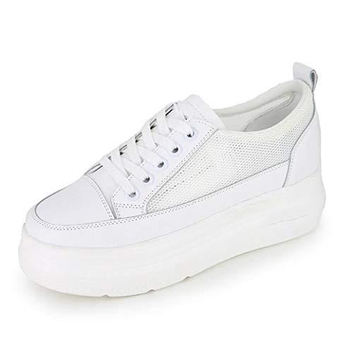 Mesh Dames Schoenen Dikke Gekoelde Witte Schoenen Platform Schoenen Hardloopschoenen Sportschoenen Platte Schoenen Ronde Hoofd Schoenen Geschikt voor Winkelen