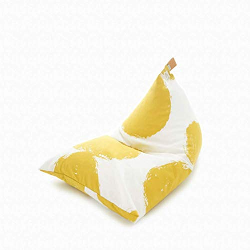 WAJI Grote piramidevormige gewatteerde zitzak speler lounge stoel game stoel, verwijderbare en wasbare zachte bank luie bank zitzak kussen stoel