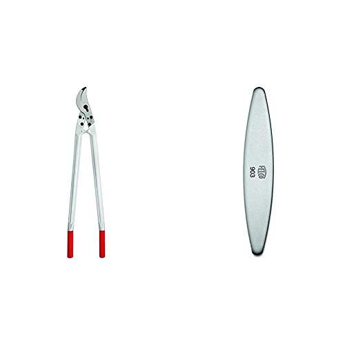 Felco Astschere 840 mm, silber/rot, 26x16x12 cm, NR 22 & 154261 903 Schleifstein, Wetzstein mit Diamant-Beschichtung, für Messer der Gartenscheren geeignet-903, grau Länge 100mm