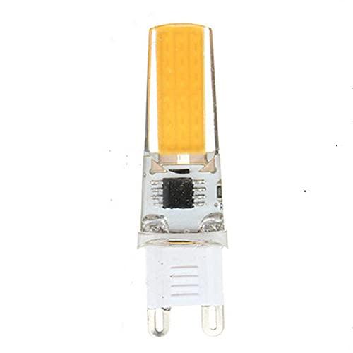 QIROG G4 G8 G9 E11 E12 E14 E17 BA15D 9W Tlemétrico LED COB 110V / 220V Pequeña luz de maíz Variedad de estilos-G9 Luz fría_10