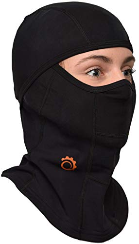 Balaclava Face Mask Premium Ski Mask and Neck Warmer for Ski, Snowboard, Motorcycle and Cycling, (Black)