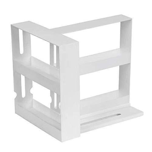 Gewürzregal Neues multifunktionales Lagerregal 1 Packung - Einfacher Trend 2-stufiges Gewürzregal Organizer Wand-Gewürzregal-Aufbewahrungshalter für Küchenschranktüren Weiß
