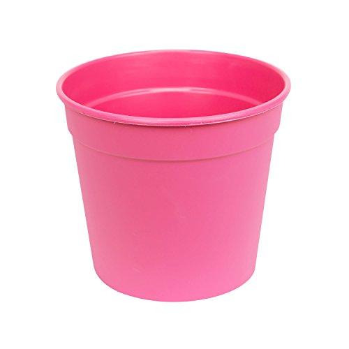 Classique cache-pot pot de fleur Koral rond 15 cm, en rose couleur