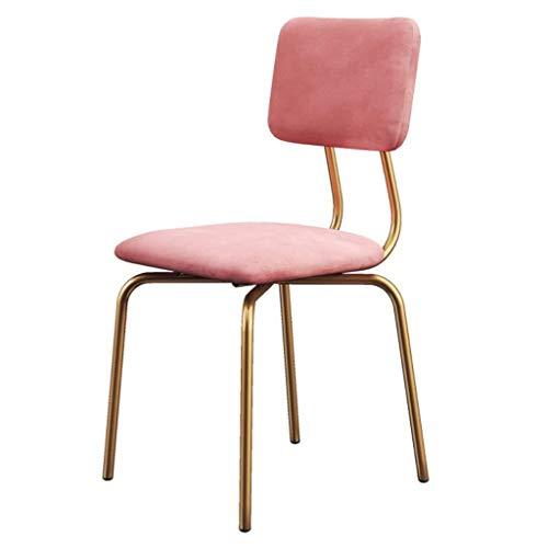 ZfgG Bar bureaukruk stoelen midden van de eeuw eetkamer stoelen moderne accenten vrijetijd behang keuken kruk metaal goud been zitting velours roze zithoogte 45 cm