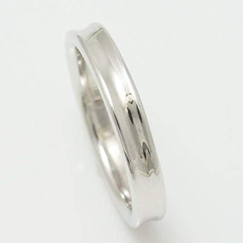 [ココカル]cococaru ペアリング K10 ホワイトゴールド リング 指輪 シンプルデザイン 逆甲丸 3mm 9号 日本製 本格派シリーズ