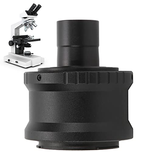 23.2mm Aluminum Alloy Microscope T Mount Extension Tube Adapter Ring with M42x0.75 Interface,for Sony E Mount SLR Cameras,Black
