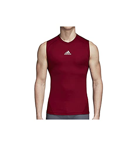 adidas Men's Alphaskin Sleeveless Compression Shirt 843T 4XL Collegiate Burgundy