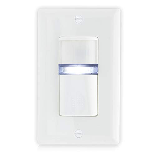 Maxxima Occupancy Motion Sensor Wall Switch With LED Night Light, Wall Plate Included