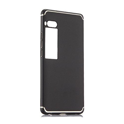 Custodia® Festigkeit Smartphone Hülle für Meizu Pro 7 Plus(Schwarz)