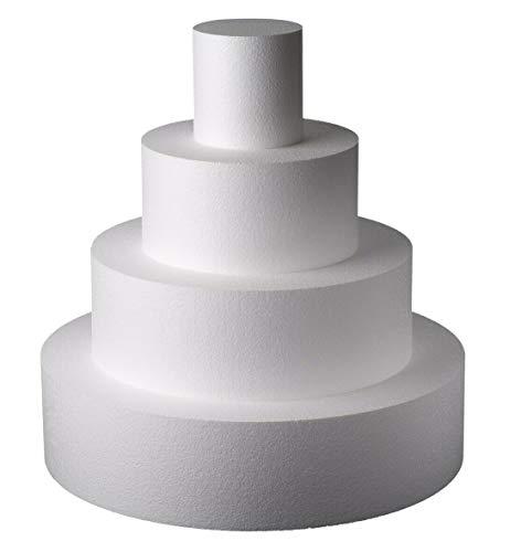 NonSoloFimo Base per Torta Circolare in polistirolo per Cake Design Altezza 10 cm, Diametro a Scelta (Diametro 10)