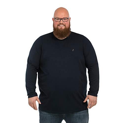 Alca långärmad tröja med rund urringning för män med överdimensionerad magomkrets 2XL-8XL långärmad T-shirt med crew-neck.
