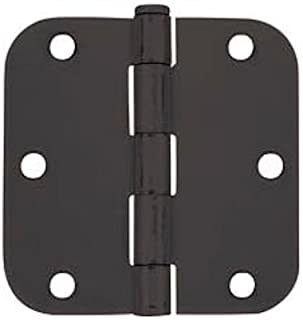 Cosmas Flat Black Door Hinge 3.5