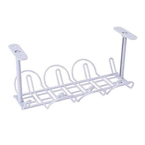 YMZ - Cajas de almacenamiento con soporte para mesa y cable de alimentación, estante fuerte adhesivo para colgar