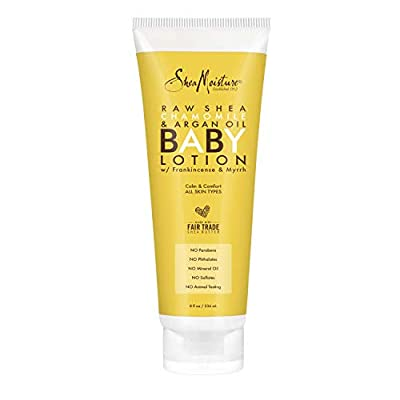 SheaMoisture Baby Lotion for Dry Skin and Clear Skin Raw Shea, Chamomile and Argan Oil with Shea Butter 8 oz by Unilever