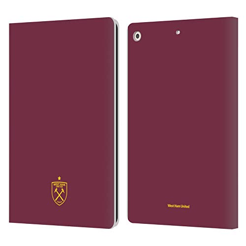 Official West Ham United FC Logo Crest Graphics Leather Book Wallet Case Cover Compatible For Apple iPad 10.2 (2019)/(2020)