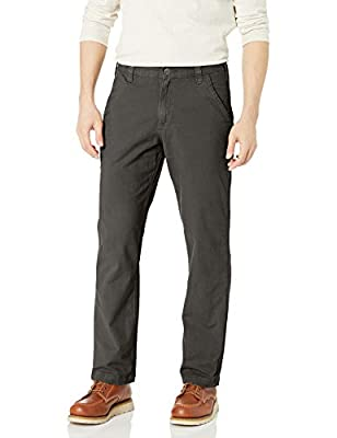 Carhartt Men's Rugged Flex Rigby Dungaree Pant, Peat, 34W X 30L