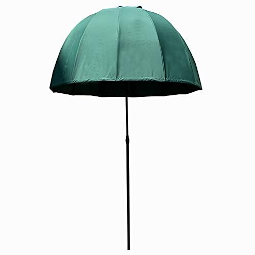 Sombrillas Ø 200 Cm Palace Umbrella Parasol para Jardín Al Aire Libre, Patio Mercado Refugio Toldo Sombrilla Exterior, Protección Uv y Resistente a La Decoloración - Sin Base ( Color : Dark green )