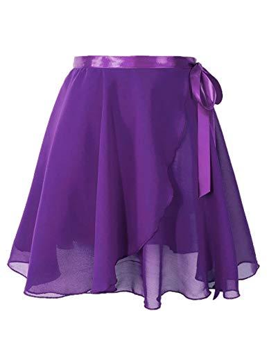 Daydance Purple Women Ballet Skirts Adult Sheer Chiffon Dance Over Scarf