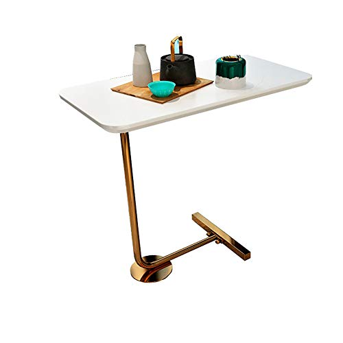 KAISIMYS Square Coffee Table | Bedside Table | Side Phone Table, Common for Living Room and Bedroom, Metal Frame, Industrial Design, Used in Bedroom, Study, Living Room, Work