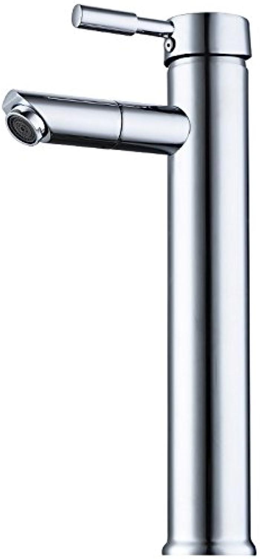 Athraoay Küche Bad Wasserhahn Messing Kaltes und Warmes Wasser 360 Grad drehen ein Loch hoch Badezimmer Waschbecken Waschtischarmatur