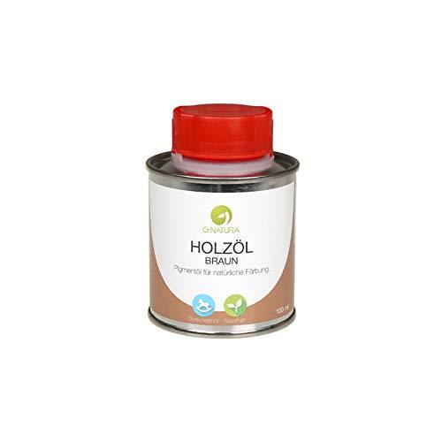 G-NATURA Pigmentöl zum Färben von Holz in natürlichen Farbtönen – verschiedene Farben (100 ml, Braun)
