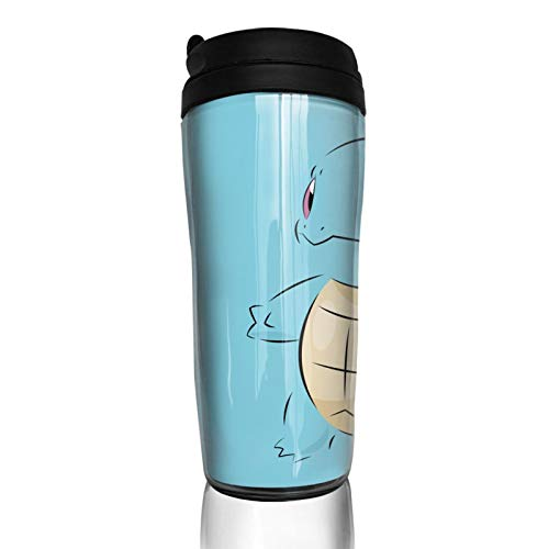 Squirtle - Taza de café con aislamiento térmico duradero y protección del medio ambiente con funda reutilizable de doble capa antiquemaduras, funda multiusos portátil, base antideslizante