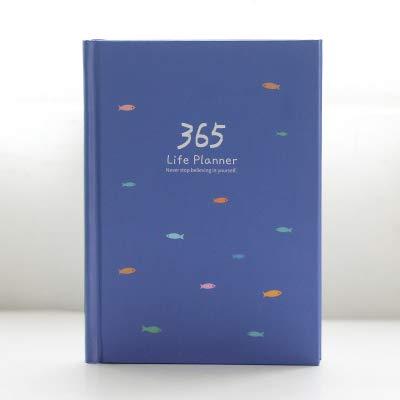 Gzh Corea 365 días de diario personal Planificador Hardcover diario del cuaderno de 2017 Oficina Horario semanal de escritorio lindos (Color : 1, Size : A5)