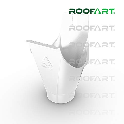 Rinneneinhangstutzen Einhangstutzen farbig von Roofart (weiß 9010)
