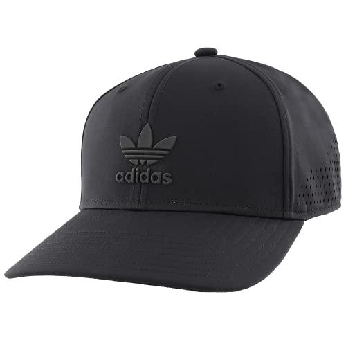 adidas Originals Men's Tech Mesh Structured Snapback Cap, Black/Black, ONE SIZE