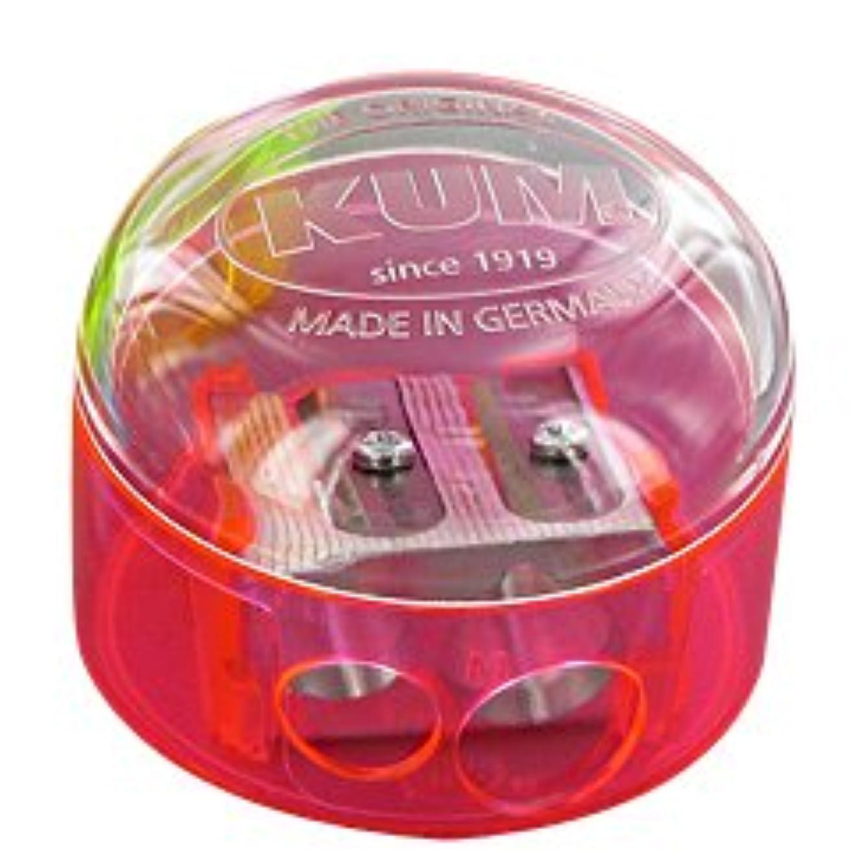 Kum 301.08.21 Magnesium 2-Hole Dome Shape Inner Pencil Sharpener, Colors Vary
