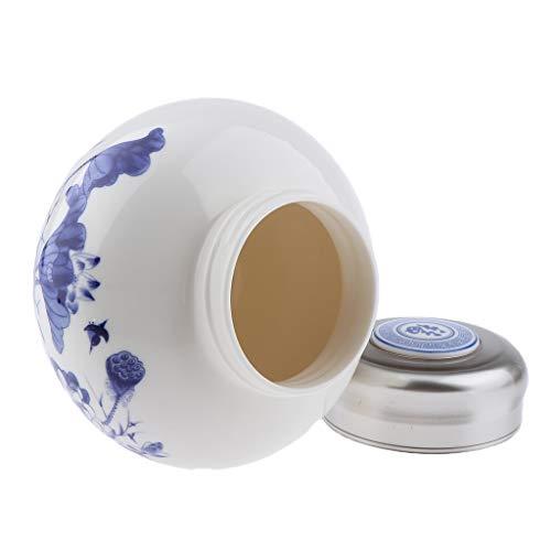 Homyl 1000ML Pots de voyage pour Lotions, Crèmes et Maquillage Contenant de Stockage Miel Thé avec Couvercle Etanche - Lotus