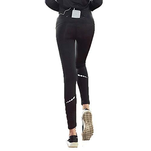 HaiDean Sportlegging voor dames, Chic jongens met reflectoren en ritszak, pantyoga, sportbroek, trainingsbroek