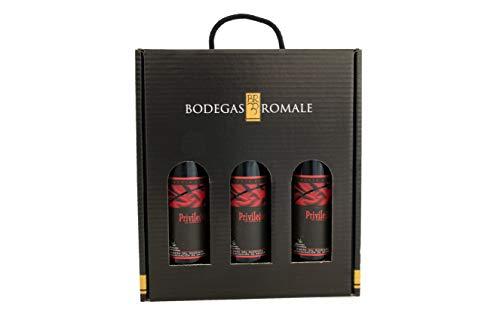 Viña Romale | Vino Tinto Reserva D.O Ribera del Guadiana | Pack 3 Botellas en Estuche de Regalo | Origen Almendralejo