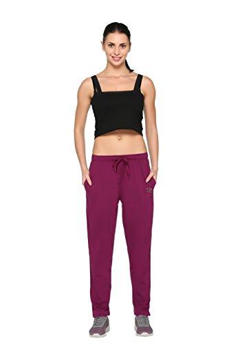 CUPID Regular fit Plain Cotton Sports n Gym Lowers, Trousers, Track Pant, Lounge n Night Wear, Pyjamas for Women n Girls - Purple, Large