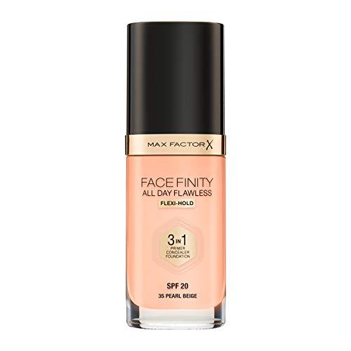 Max Factor FaceFinity 3 en 1 All Day Flawless Base de Maquillaje Tono 035...