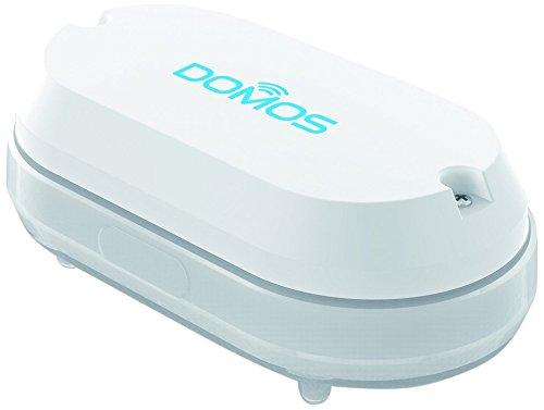 Domos SA-0. Sensor de Agua e inundación WiFi, monitorizable Desde Cualquier Lugar, sin Necesidad de hub. Combinable con Otros Productos Funciona con Amazon Alexa y Google Home.