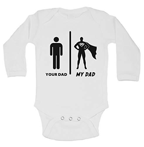 Cute Kids superhéroe Padre 'su Dad My Dad bebé Little royaltee Camisas, Blanco