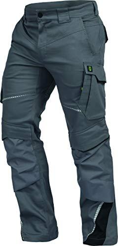 Leib Wächter Flex-Line Workwear Bundhose Arbeitshose mit Spandex (grau/schwarz, 48)
