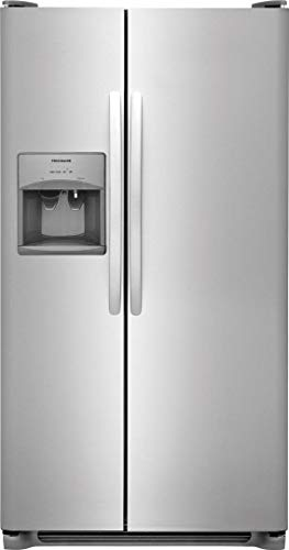 Frigidaire FFSS2615TS 36 Inch Side by Side Refrigerator with 25.5 cu. ft. Capacity, External...