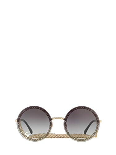 CHANEL Luxury Fashion Damen CH4245C395S6 Gold Metall Sonnenbrille | Jahreszeit Permanent