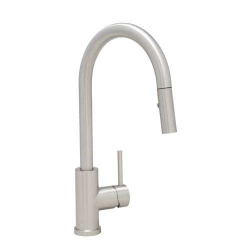Mirabelle MIRXCRA101MSS Ravenel Pullout Spray Kitchen Faucet with Magnetic Docking