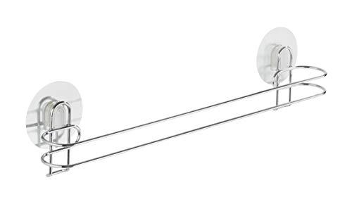 WENKO 21571100 Static-Loc Handtuchstange Osimo, Befestigen ohne bohren, Stahl, 45 x 11.5 x 6 cm, Chrom