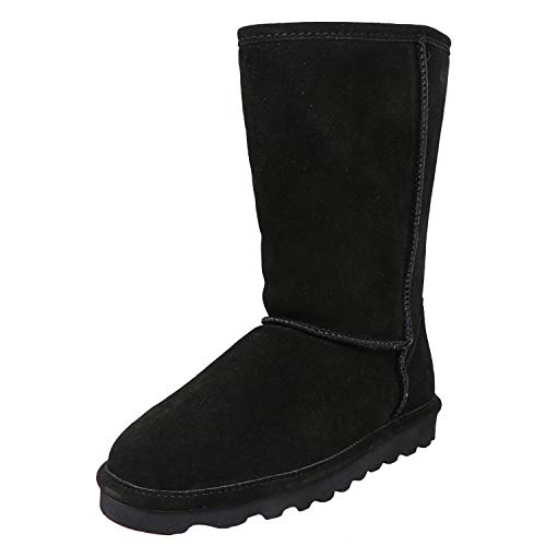 Price comparison product image BEARPAW Elle Tall Black Ii Mid-Calf Leather Snow Boot - 5M