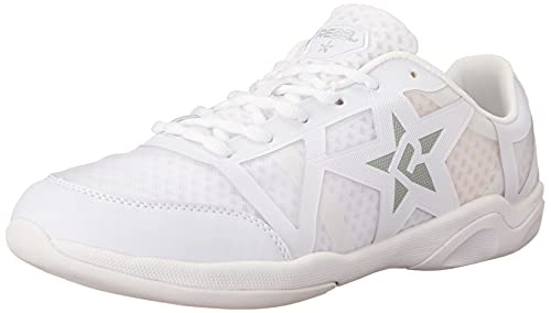 Rebel Athletic Ruthless Cheer Shoe, 4 , White