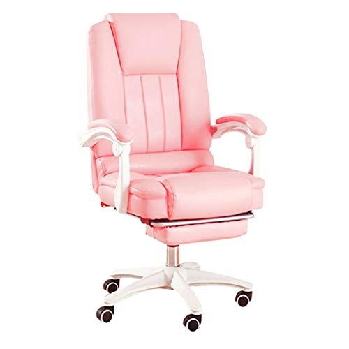 PLEASUR Computerstuhl Fauler Stuhl Arbeitszimmerstuhl Home Liege Home Hocker Kinderspielstuhl Büro Sessellift Boss Arbeitsstuhl Pinker Stuhl (Farbe: Pink, Größe: 65cm * 65cm * 110cm)