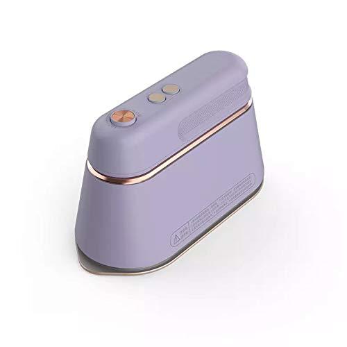 YZH Máquina de planchado portátil y supereficiente, plancha plana de vapor pequeña de mano, máquina de planchar a vapor, ropa usada, camisas, vestidos de banquetes, etc. (Color: púrpura)