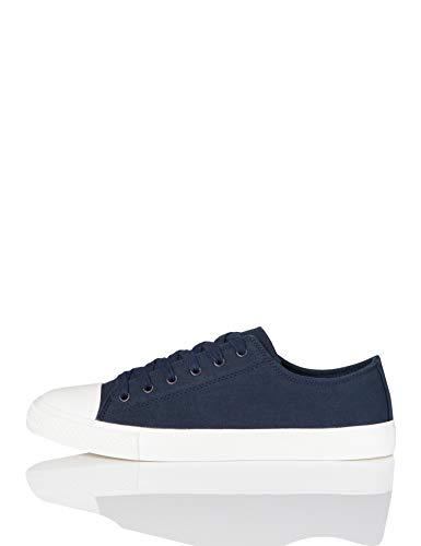 FIND Low-Top Canvas Sneaker, Blau (Navy), 38 EU