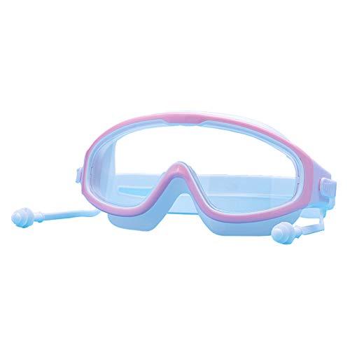 fuchsiaan Gafas de natación antivaho de alta transparencia, diseño ergonómico 3D, sin fugas, protección UV, color rosa y blanco