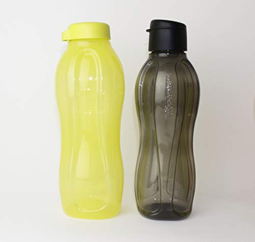 Tupperware to Go Eco 1,5L Gelb + 1L Schwarz Trinkflasche Flasche EcoEasy Ökoflasche